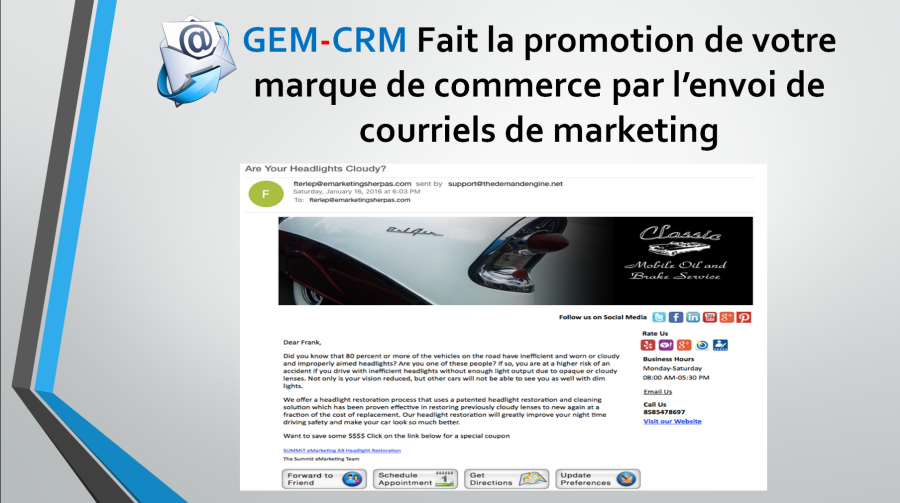 courriel de marketing